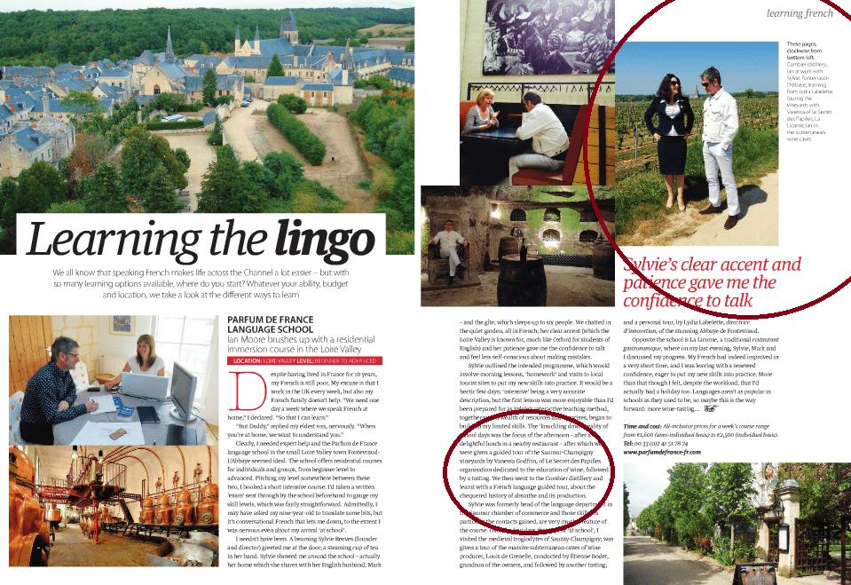 On parle de Parfum de France dans l'édition de Juillet 2015 de France magazine