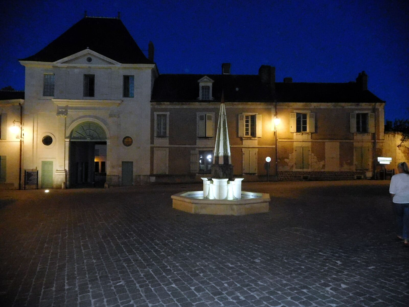 villagesquareatnight